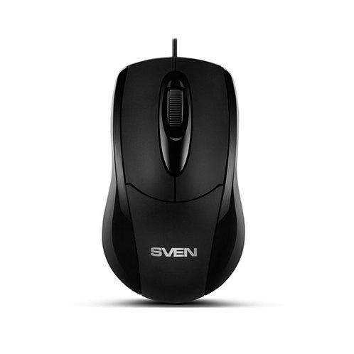 Мышь SVEN RX-110 (black), USB+PS/2, 1 Wheel, 1000cpi