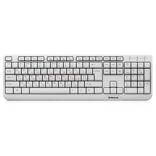 Клавиатура REAL-EL Standard 500 USB white