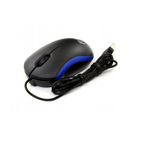 Мышь Frime FM-010 Black/Blue тип датчика: оптический, 2 кнопки, интерфейс: USB,