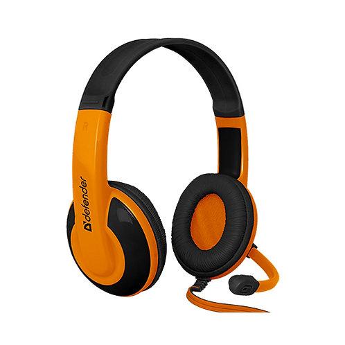 Гарнитура Defender Warhead G-120 2m black+orange