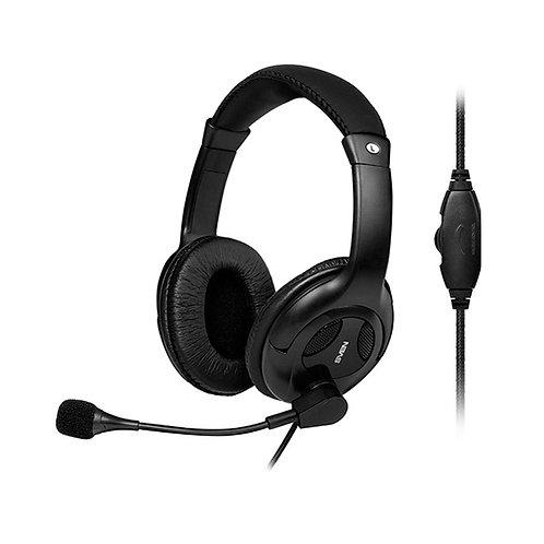 Наушники SVEN AP-675MV black наушники с микрофоном (кожаные)