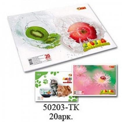Альбом для рисования А4 20л скоба 110 г/м2 TIKI