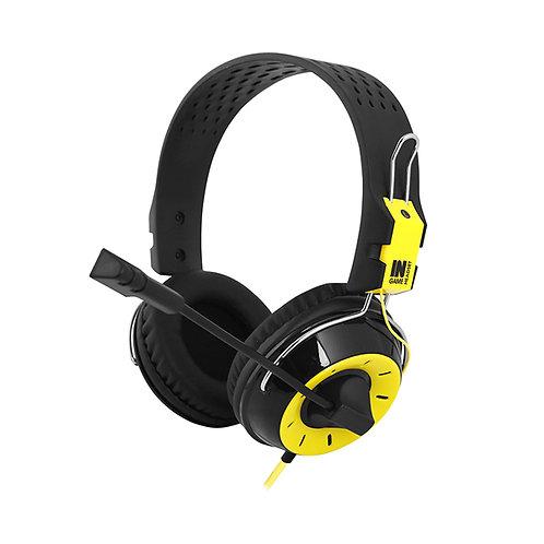 Наушники Gemix N4 black-yellow игровые