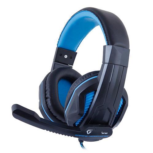 Наушники Gemix W-360 игровые, черно-голубые