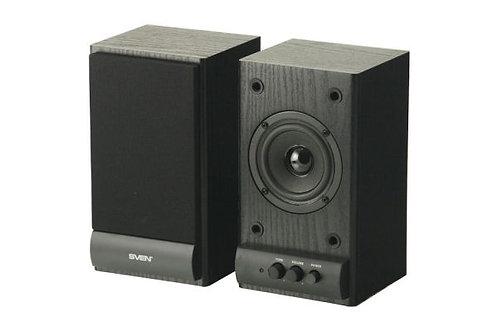 Акустическая система 2.0 SVEN SPS-607 (черные) 2x3 Вт, деревянный корпус