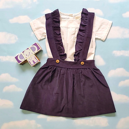 Ruffled Blue Overall