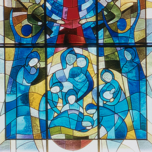 kirchenfenster: seelig sind die trauernden...