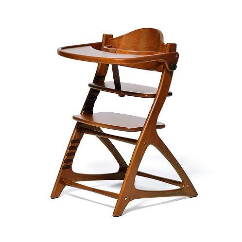 Yamatoya Materna High Chair - Light Brown
