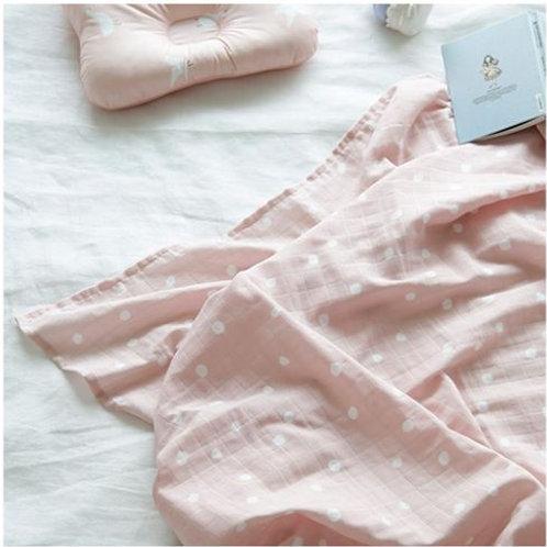 [Borny] Mari Dot Pink Blanket