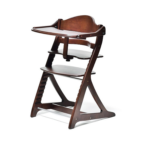 Yamatoya Sukusuku+ High Chair - Dark Brown