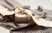 Detailed photograph of the brides wedding rings