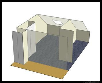Simulation 3D salle HC
