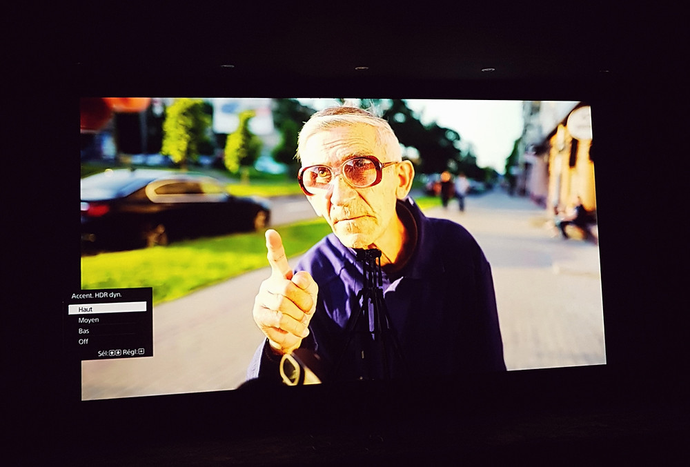Photo mire vieil homme avec HDR Dyn mode Haut