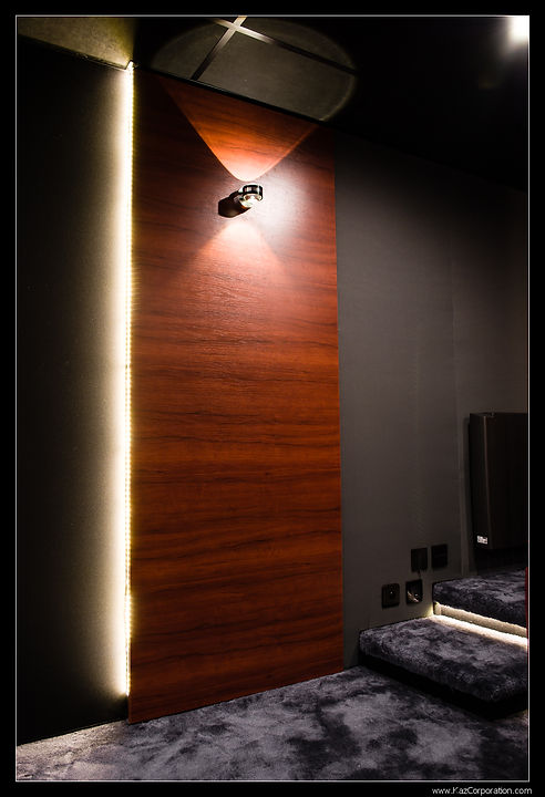 Panneau design en bois et LED