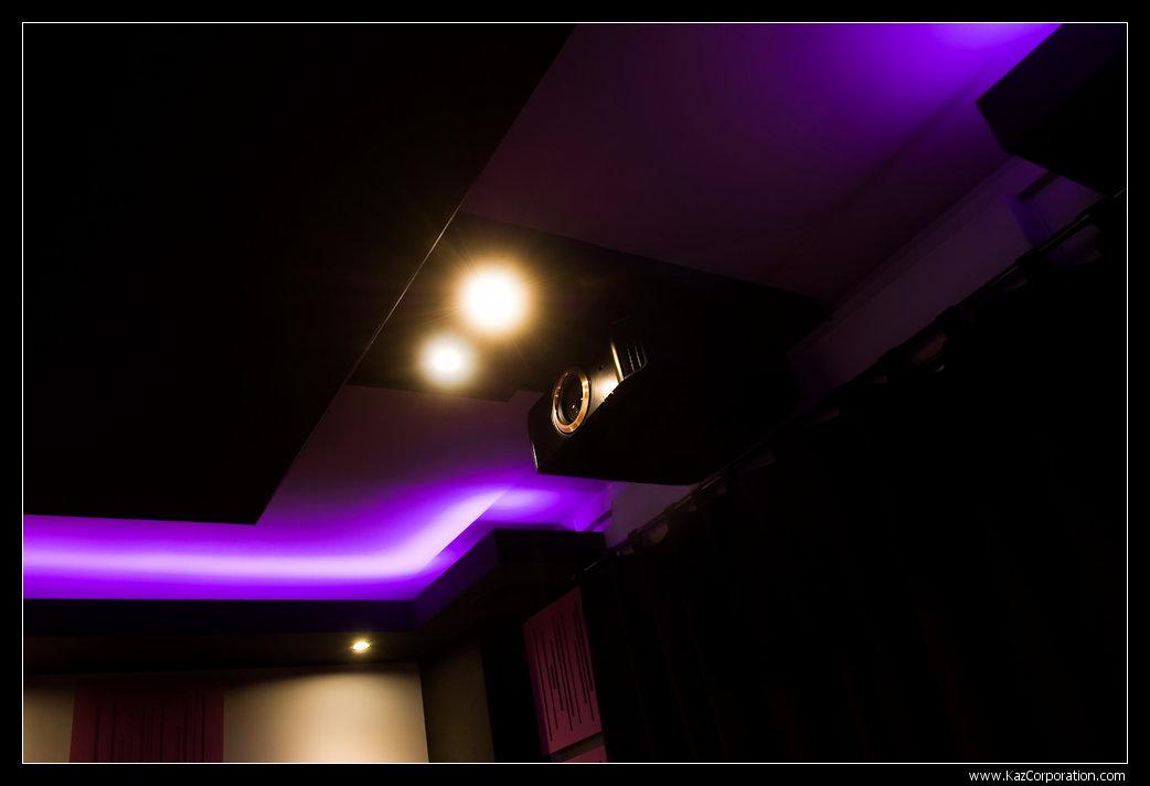 Projecteur JVC au plafond