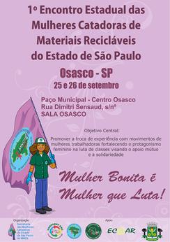 Mais de 400 catadoras do Estado de São Paulo discutirão protagonismo feminino no 1º Encontro Estadua