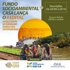 Edital para projetos socioambientais: prêmios de 30.000