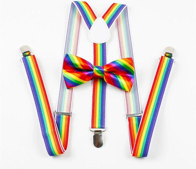 Skye Dyes Rainbow Suspenders