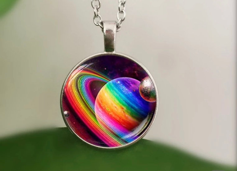 Saturn's Skye Dyes Necklace
