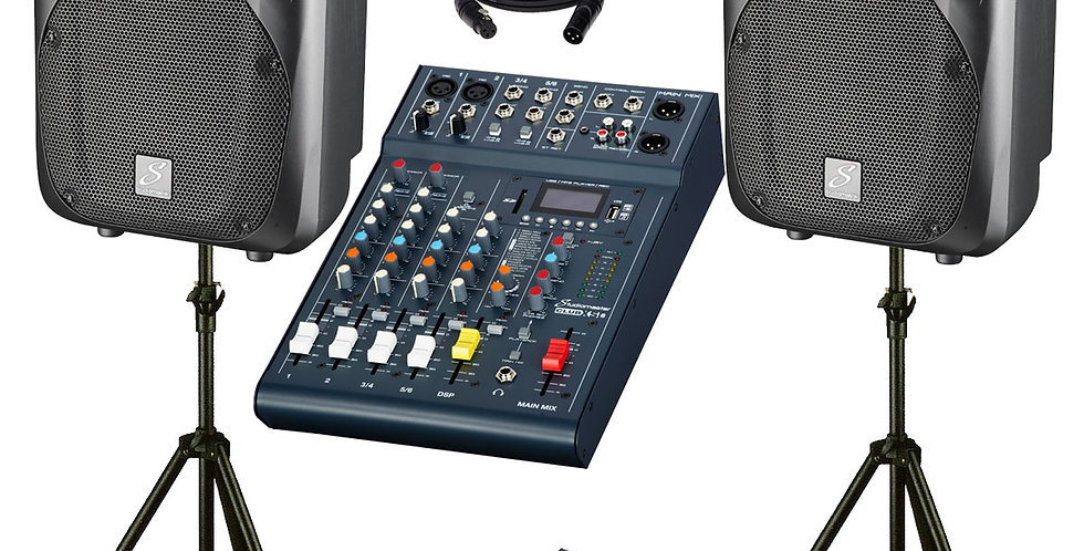 STUDIOMASTER DRIVE 10″ 6 CHANNEL 500W ACTIVE PA SYSTEM