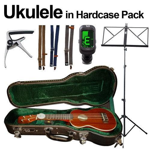 Ukulele hardcase bundle