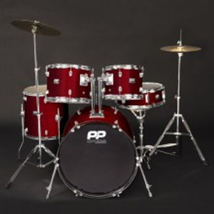 PP DRUMS 5PC FUSION DRUM KIT ~ Wine Red