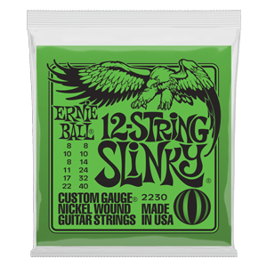 SLINKY 12-STRING NICKEL WOUND ELECTRIC GUITAR STRINGS - 8-40 GAUGE