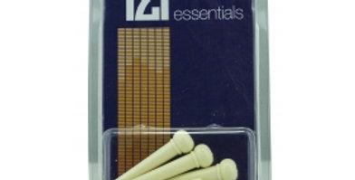 6 TGI BRIDGE PINS - PLASTIC CREAM, WITH DOT