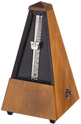 WITTNER METRONOME. WOODEN. WALNUT COLOURED. HIGHLY POLISHED.