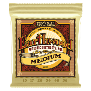 EARTHWOOD MEDIUM 80/20 BRONZE ACOUSTIC GUITAR STRINGS - 13-56 GAUGE