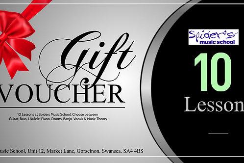 10 Lessons Gift Voucher