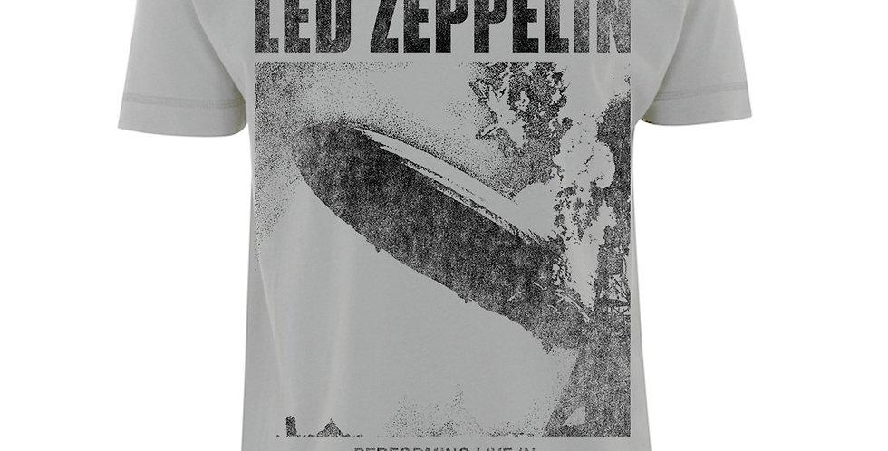 Led Zeppelin Official Merchandise - T-Shirt - 'UK Tour 1969' LZ1 Ice Grey  Size: