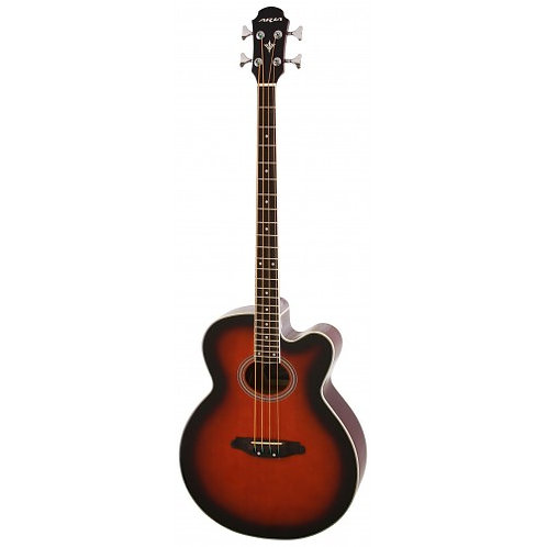 Aria FEB 30M Electro Acoustic Bass Red Shade
