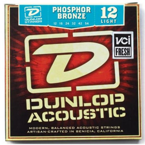 JIM DUNLOP Phosphor Bronze Acoustic Guitar Strings 12-54 Light
