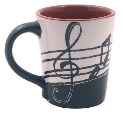 Latte Mug: Music Notes
