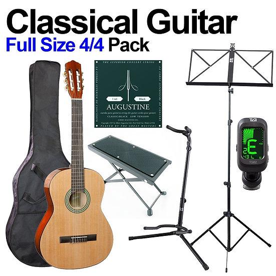 Full size Classical Guitar Bundle