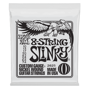 SLINKY 8-STRING NICKEL WOUND ELECTRIC GUITAR STRINGS - 10-74 GAUGE