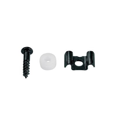 string retainer, Stallion, with nylon spacer and screw, black