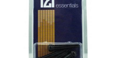 6 TGI BRIDGE PINS - PLASTIC BLACK, WITH DOT