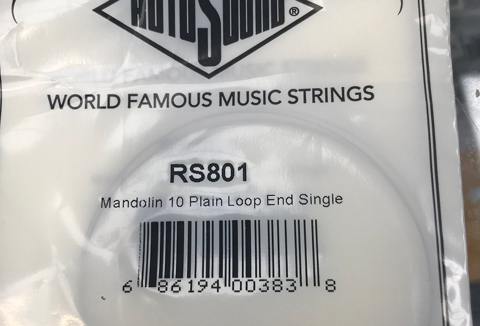 Single mandolin 10 loop end string