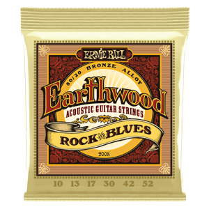 EARTHWOOD ROCK AND BLUES W/PLAIN G 80/20 BRONZE ACOUSTIC GUITAR STRINGS - 10-52