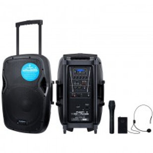 """KAM PORTABLE 15"""" ACTIVE SPEAKER WITH BLUETOOTH ~ 1000W"""
