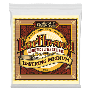 EARTHWOOD MEDIUM 12-STRING 80/20 BRONZE ACOUSTIC GUITAR STRINGS - 11-28 GAUGE