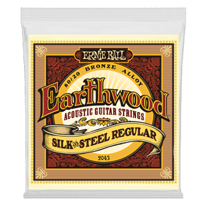 EARTHWOOD SILK & STEEL REGULAR 80/20 BRONZE ACOUSTIC GUITAR STRINGS - 13-56 GAUG