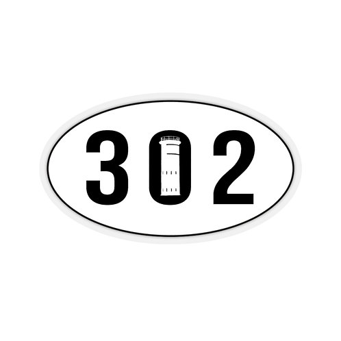 302 Oval Sticker