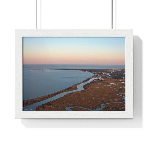 "Premium Framed Aerial Photo ""Sunset on the Broadkill"""