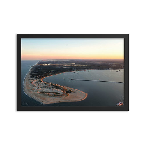 "Premium Framed Photo ""Golden Hour at the Point"" 12x18"