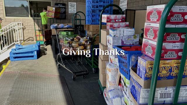"Giving Thanks "" Neighbors helping Neighbors"""