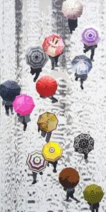 2_Flowers in the rain_Acrylic on canvas_