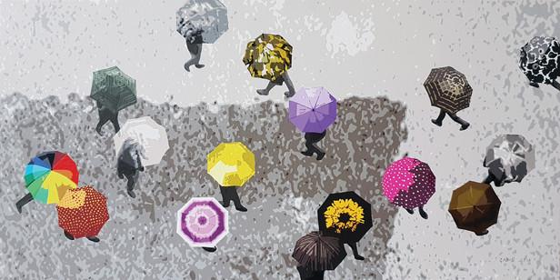 4_Flowers in the rain_Acrylic on canvas_